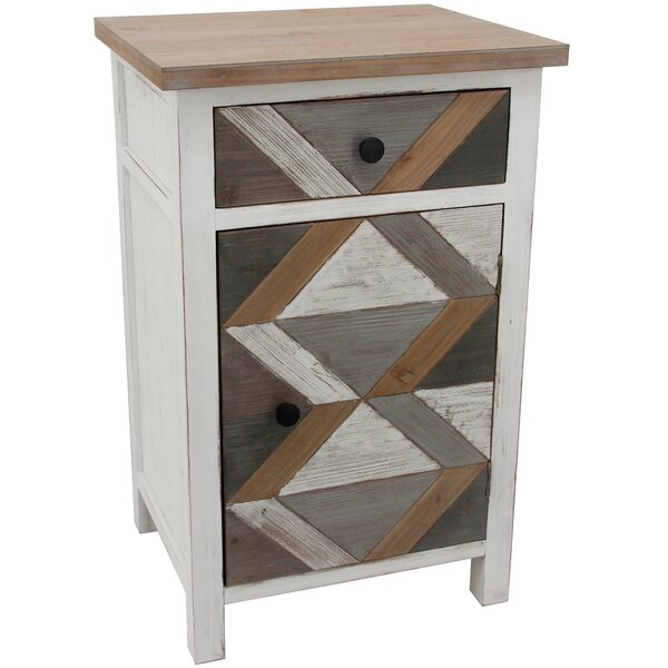 Embrey Geometric 1 Door Cabinet by Gracie Oaks