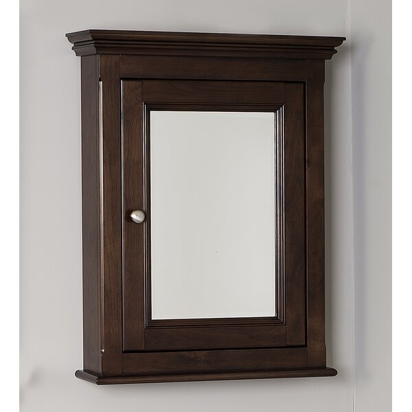 Turley Birch Wood-Veneer Surface Mount Framed 1 Door Medicine Cabinet