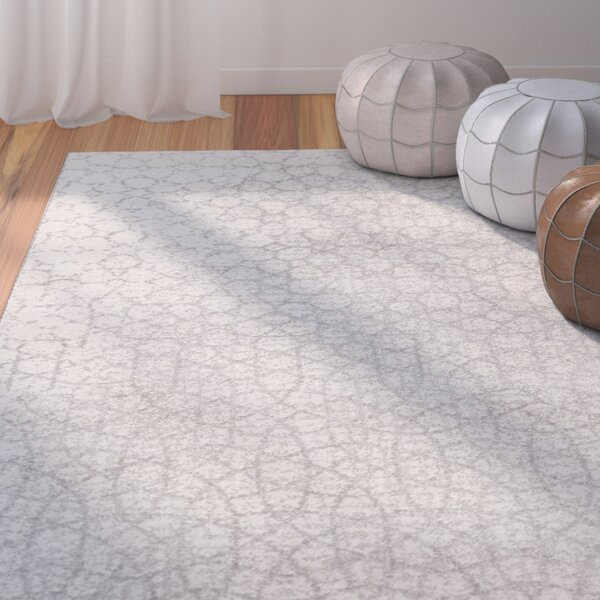 Edgware Silver Indoor/Outdoor Area Rug by Bungalow Rose