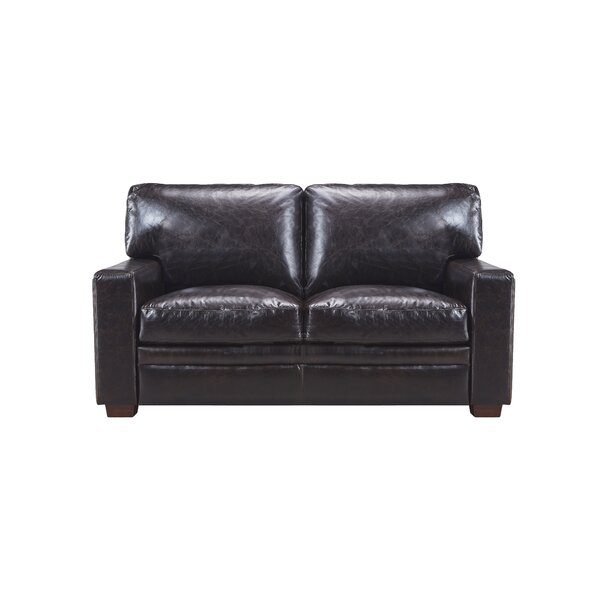 Cintia Leather Loveseat by Darby Home Co