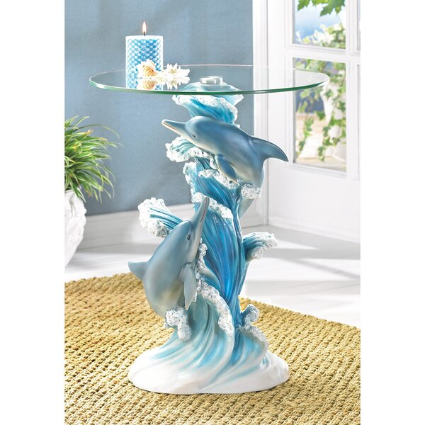 Wave Dancers Dolphin End Table By Zingz & Thingz