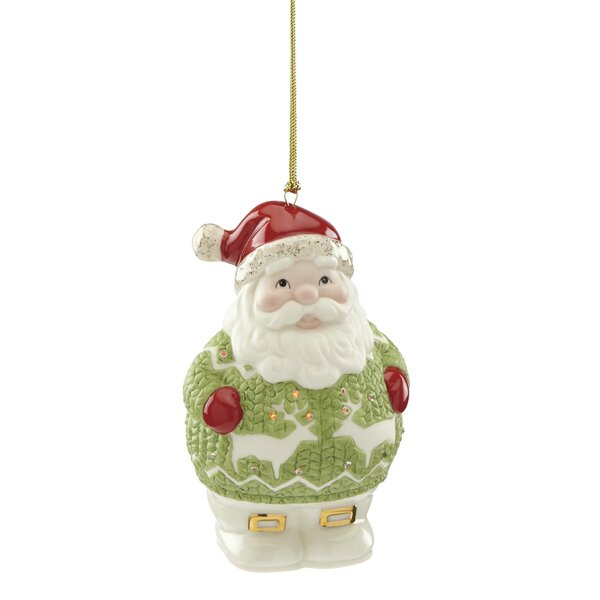 Christmas Sweater Santa Hanging Figurine Ornament