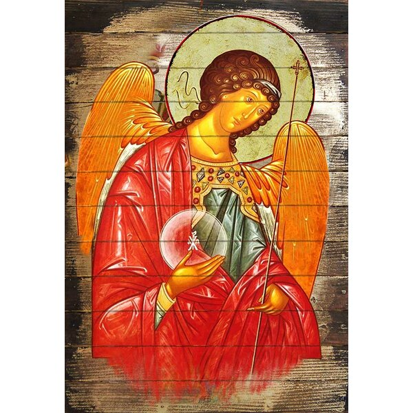 Inspirational Icon Archangel Michael Painting by G Debrekht