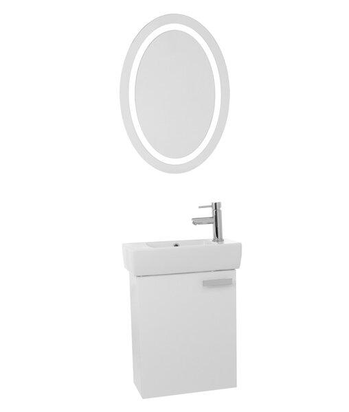 Cubical 23 Single Bathroom Vanity Set with Mirror by Nameeks VanitiesCubical 23 Single Bathroom Vanity Set with Mirror by Nameeks Vanities