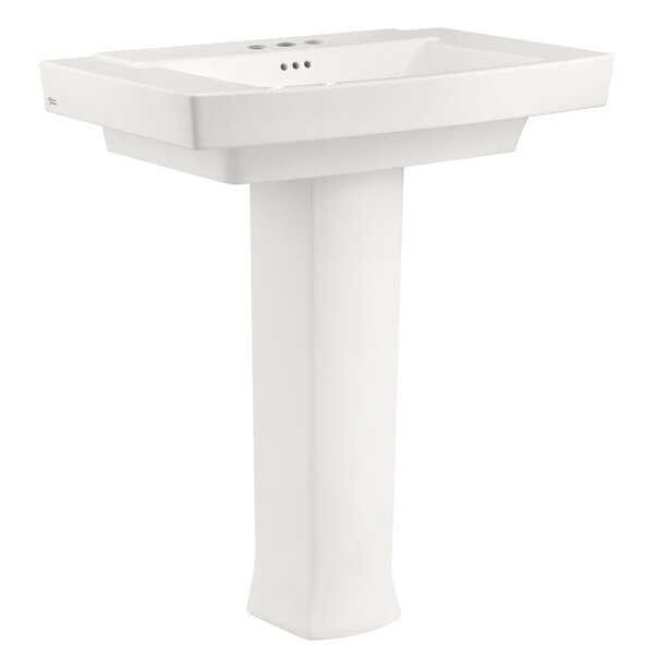 Townsend 35 Full Pedestal Bathroom Sink with Overf