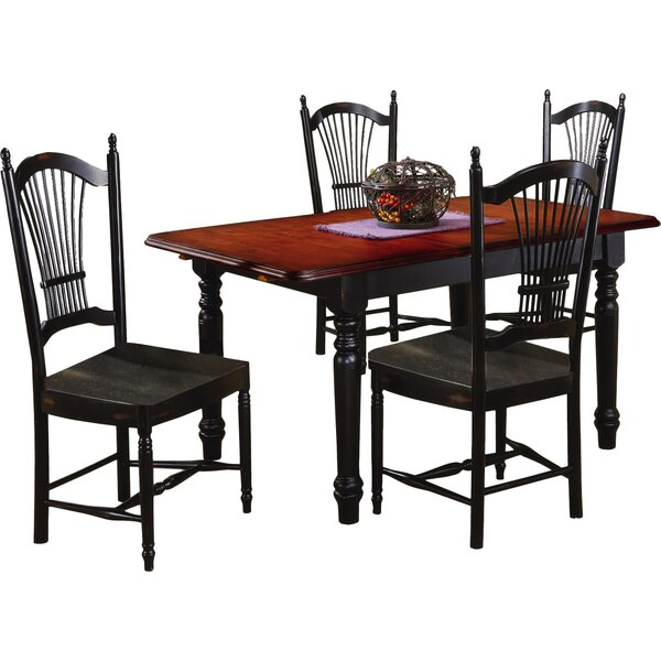Lockwood 5 Piece Extendable Dining Set by Loon Peak
