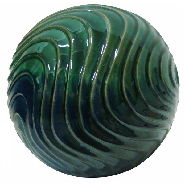 Waves Ceramic Gazing Globe by Benzara