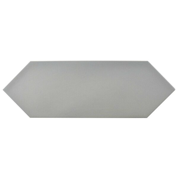 Volant 4 x 11.75 Porcelain Field Tile in Gray by EliteTile