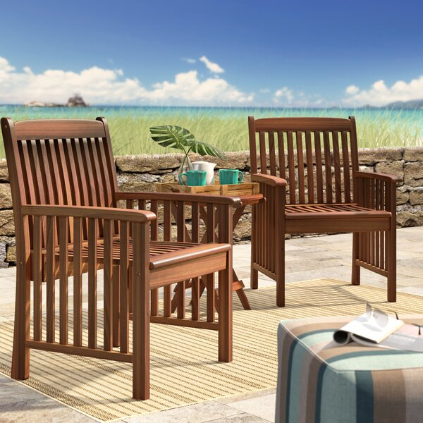 Rothstein Patio Dining Chair (Set of 2) by Beachcrest Home