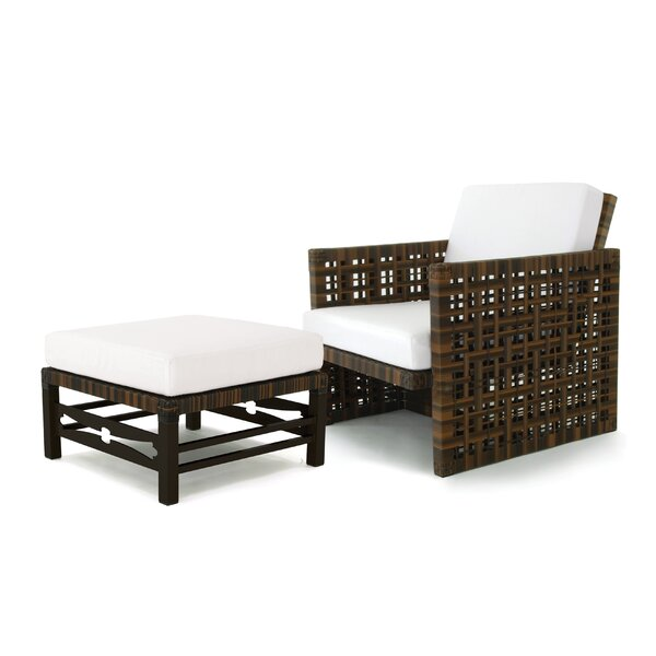 Astor Patio Chair with Cushions and Ottoman by OASIQ