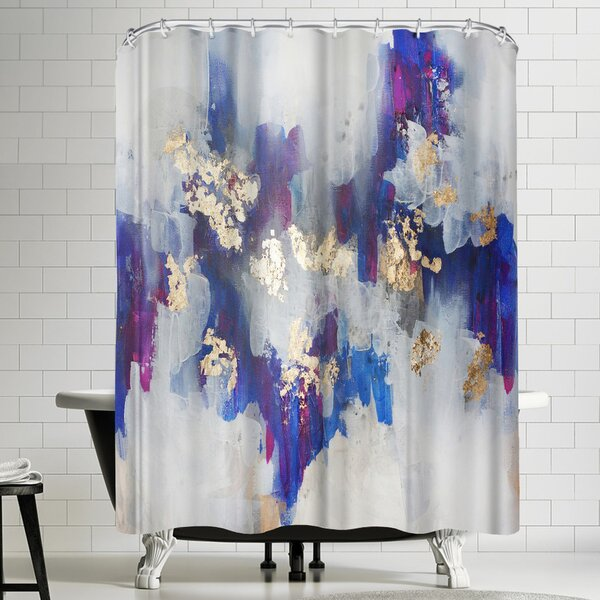 Christine Olmstead Golden Road Shower Curtain by East Urban Home