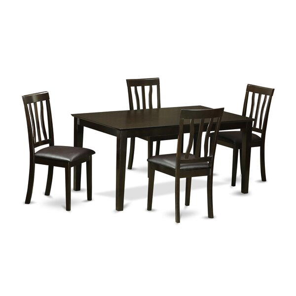 Modern  Capri 5 Piece Dining Set By Wooden Importers 2019 Sale