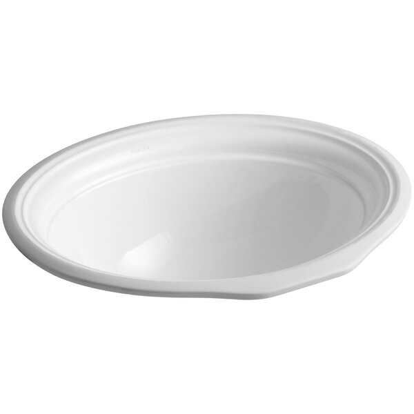 Devonshire Ceramic Oval Undermount Bathroom Sink with Overflow by Kohler