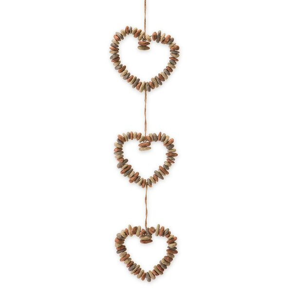 Hanging Rock Heart Wreath Trio by Wind & Weather