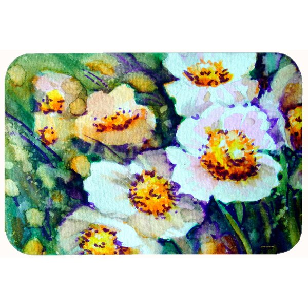 Raindrops on Poppies Floral Bath Rug