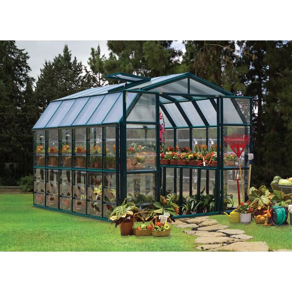 Grand Gardener 2 Clear 8 Ft. W x 12 Ft. D Greenhouse by Rion Greenhouses