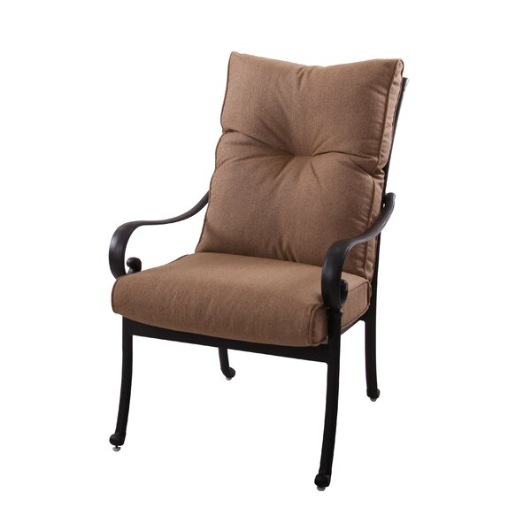 Carlitos Modern Stacking Patio Dining Chair with Cushion by Darby Home Co