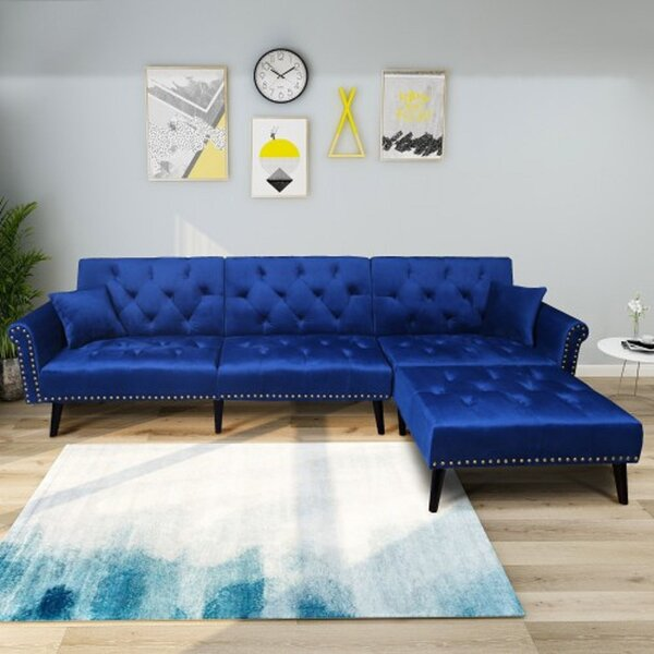 Kerry Functional Sleeper Sectional by House of Hampton