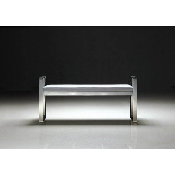Luxe Faux Leather Bench by Pasargad