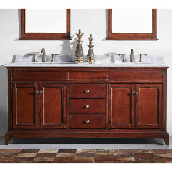 Strickland Solid Wood 60 Double Bathroom Vanity Set by Darby Home Co