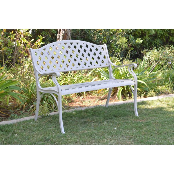 Lavisha Aluminum Garden Bench by Ophelia & Co.