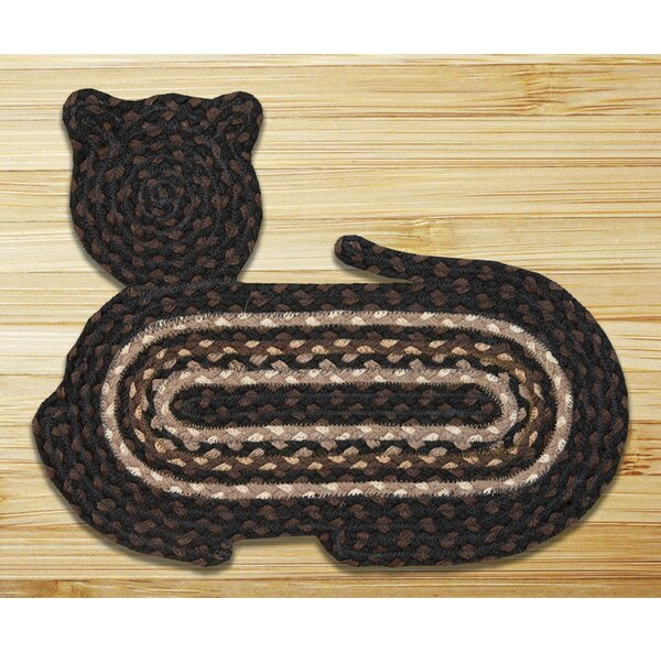 Mocha/Frappuccino Cat Shaped Rug by Earth Rugs