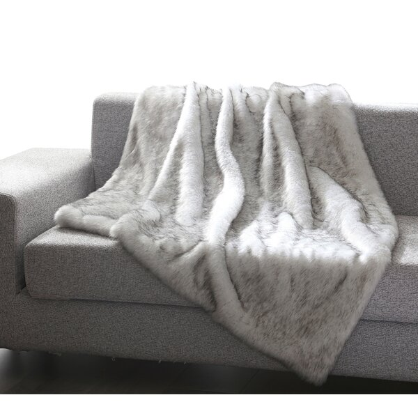 Thiele Luxury Tip Dye Faux Fur Throw By Mistana.