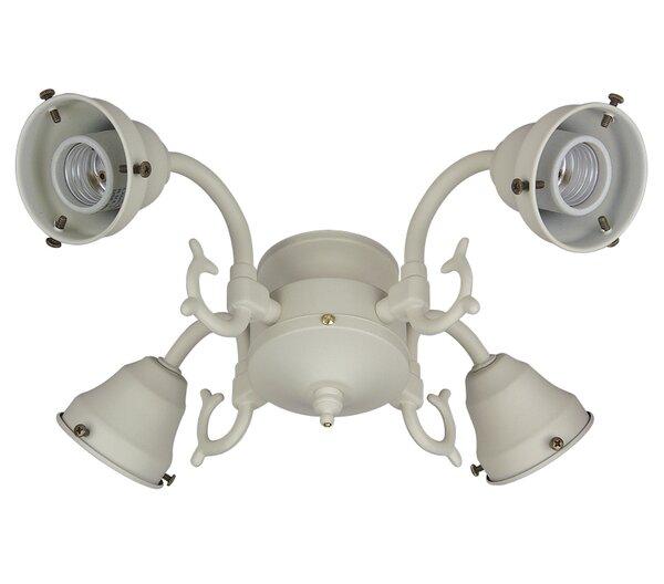Four Light Ceiling Fan Light  Cast Fitter by Craftmade