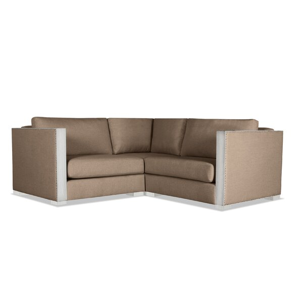 Steffi Solid Right and Left Arms L-Shape Modular Sectional by Orren Ellis