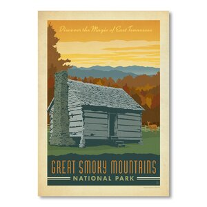 Great Smoky Mountains Vintage Advertisement by East Urban Home