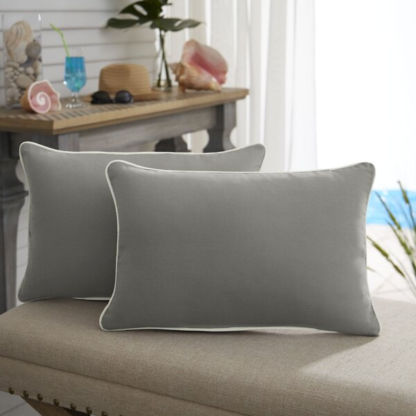Devon Sunbrella Outdoor Lumbar Pillow (Set of 2) by Beachcrest Home
