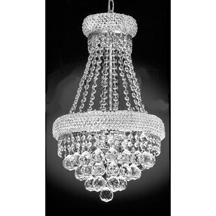Check Prices Lanza 3-Light Empire Chandelier By Rosdorf Park