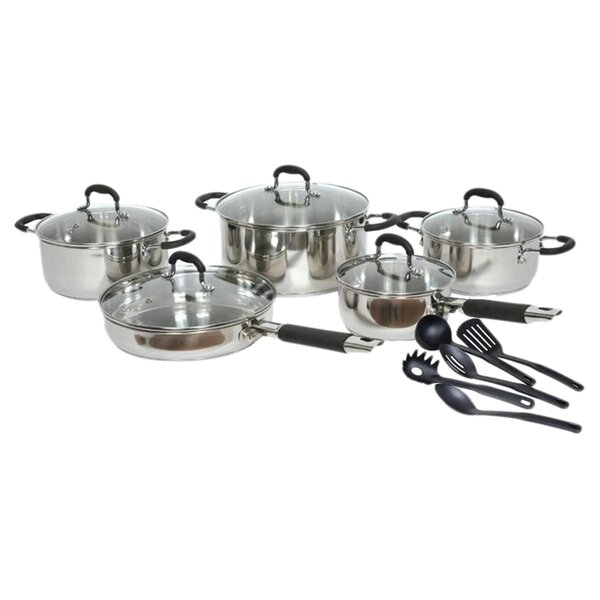 Gourmet Chef Stainless Steel 15 Piece Cookware Set by Gourmet Chef