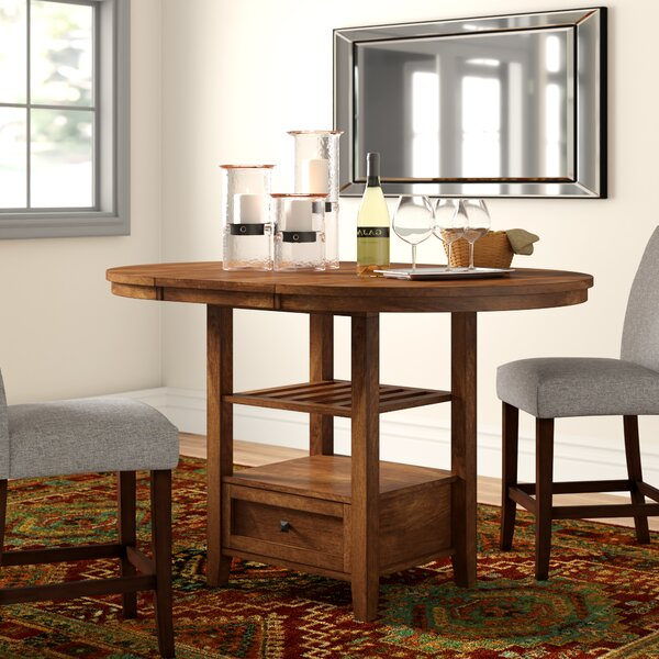 Brierfield Counter Height Extendable Dining Table by Three Posts Three Posts