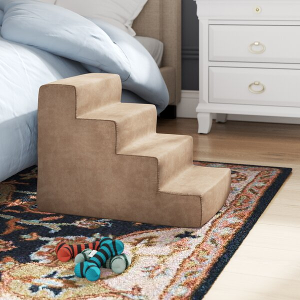 Harper 4 Step Foam Pet Stairs by Tucker Murphy Pet