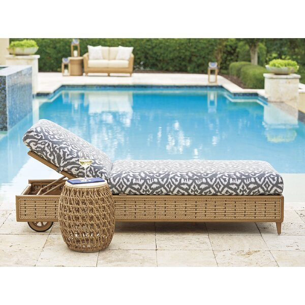 Los Altos Valley View Reclining Chaise Lounge with Cushion and Table