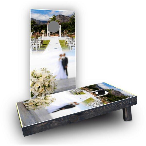 Wedding Flowers Cornhole Boards (Set of 2) by Custom Cornhole Boards