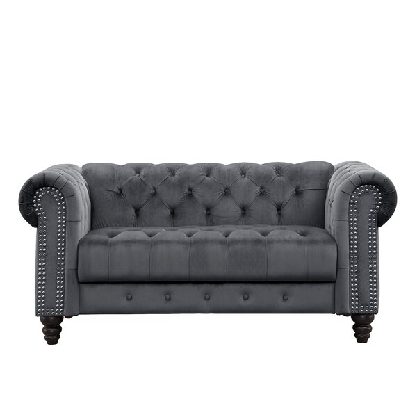 Top Of The Line Mohr Chesterfield Loveseat by Rosdorf Park by Rosdorf Park