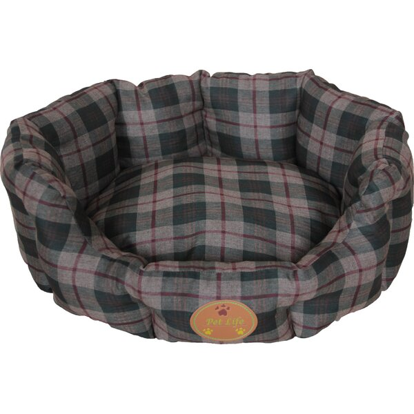 Wick-Away Nano-Silver and Anti-Bacterial Water Resistant Round Circular Dog Bed by Pet Life