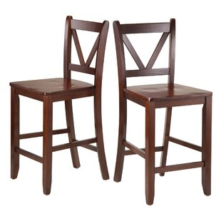 Victor 23.98 Bar Stool (Set of 2) by Winsome