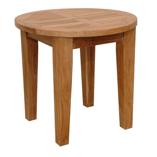 Brianna Solid Wood Side Table by Anderson Teak