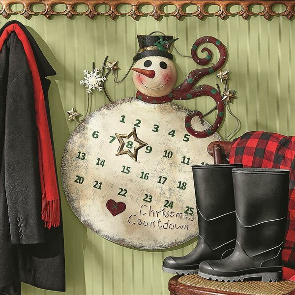 Metal Christmas Countdown Snowman Advent Calendar by Design Toscano