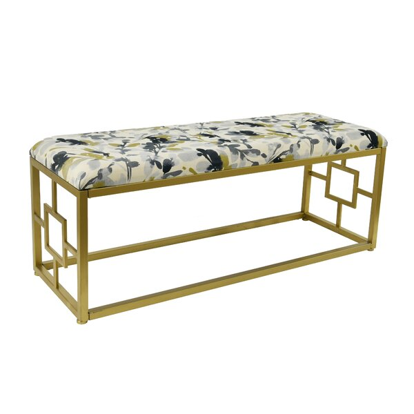 Leaf Storm Amee Upholstered Bench By Everly Quinn