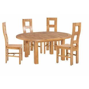 Carbajal 5 Piece Extendable Solid Wood Dining Set By Loon Peak