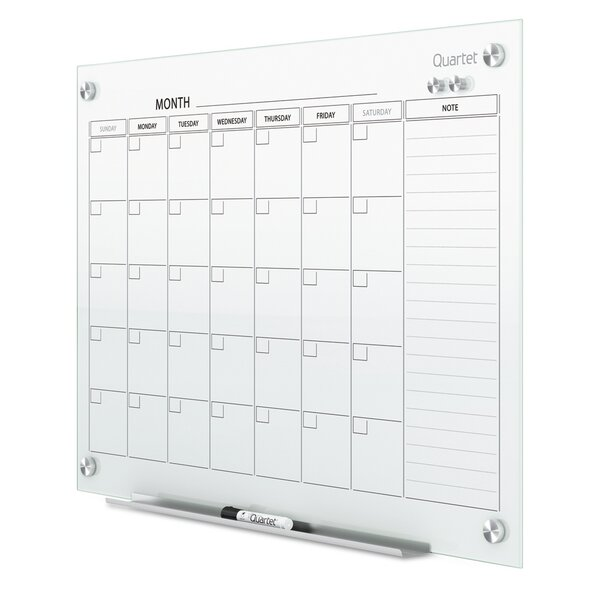 Infinity Magnetic Calendar Glass Board by Quartet