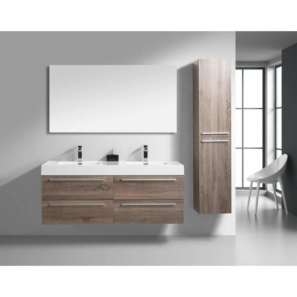 Aiydan 60 Wall-Mounted Double Bathroom Vanity Set
