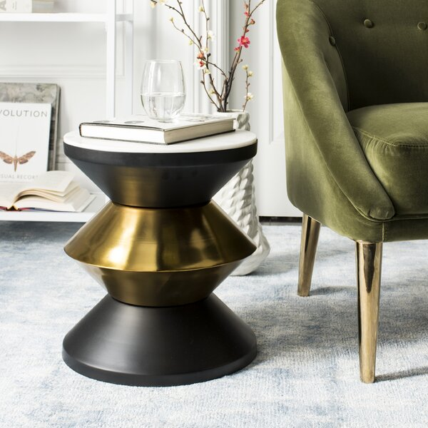 Senters Stone Top End Table by Mercer41