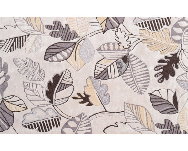 Groveland Hand-Hooked Cream Area Rug by Threadbind