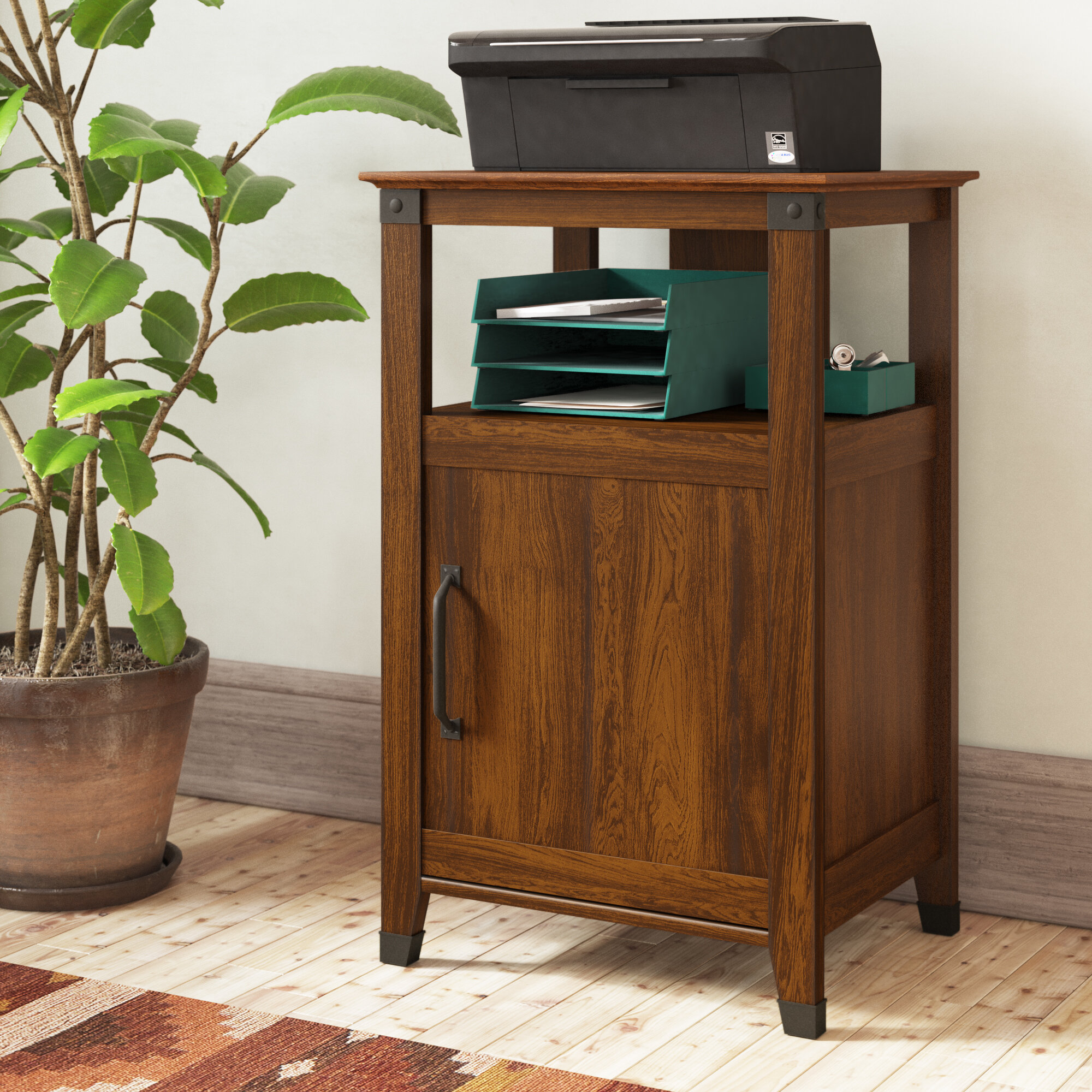 Chel Printer Stand With Storage