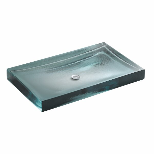 Alteo Glass Rectangular Vessel Bathroom Sink by Kohler